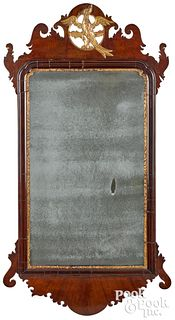Chippendale mahogany looking glass, ca. 1800