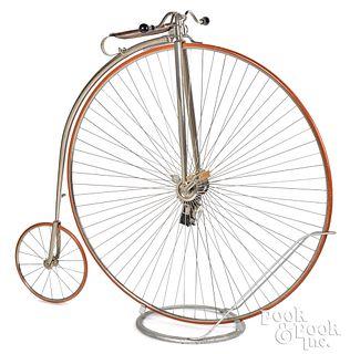Columbia Expert high wheel bicycle, ca. 1885