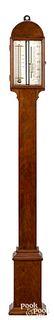 New Hampshire mahogany stick barometer, 19th c.