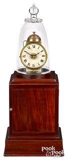 Massachusetts mahogany lighthouse clock, ca. 1820