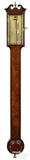 George III mahogany stick barometer, ca. 1790