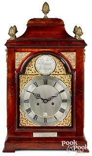 George III mahogany organ bracket clock