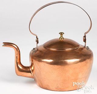 Philadelphia copper kettle, 19th c.