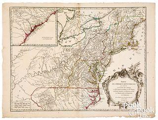 Robert de Vaugondy Mid-Atlantic America map