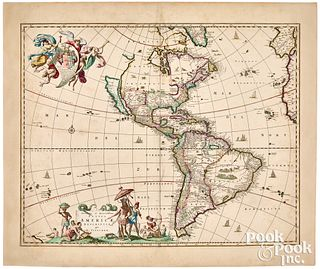Nicholas Visscher map of the Americas, ca. 1670
