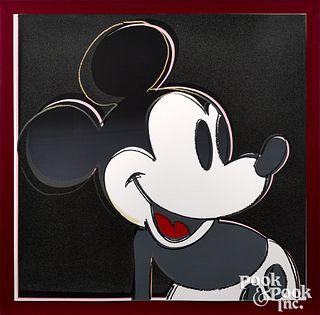 Andy Warhol Mickey Mouse screenprint