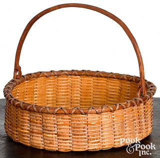 Swing handled basket, late 19th, Rouse Matterson