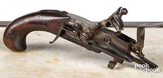 Continental flintlock tinder lighter, late 18th c.
