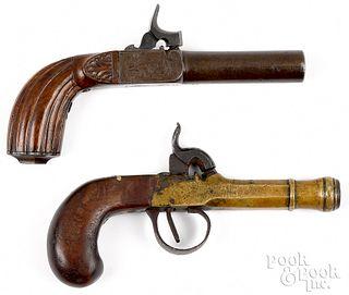 Two percussion pistols, 19th c.