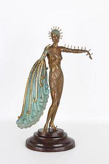 "ERTE ""Diva"" Bronze Sculpture"