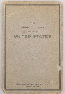 Folded & Bound Map of the United States