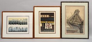Group of 3 Japanese Woodblock Prints