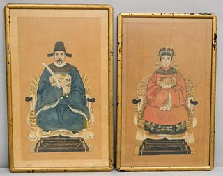 Pair of Chinese Ancestor Portraits