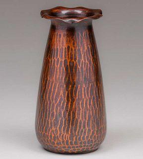 Roycroft Hammered Copper Flared Vase c1920s