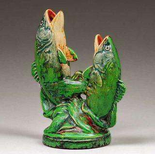 Weller CoppertoneDouble Fish Vase