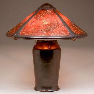 """Dirk van Erp Hammered Copper """"Milkcan"""" Lamp c1920s"""