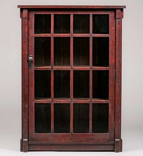 "Roycroft #086 One-Door ""Thirty-Three Degree"" Bookcase c1905"