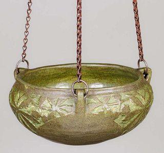 Rochester Mechanics Institute Carved Arts & Crafts Hanging Basket 1914