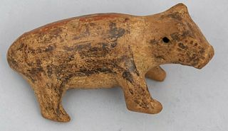 Pre-Columbian Style Pottery Pig Effigy