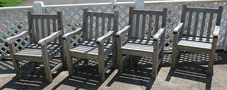 Set of Barlow Tyrie Teak Outdoor Armchairs