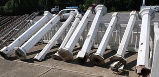 Group of Neoclassical Wooden Architectural Columns