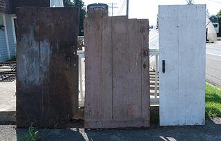 Lot of Three Farmhouse Fresh 18th Century Doors