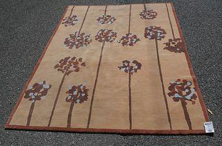 Modern Handmade Nepalese Rug