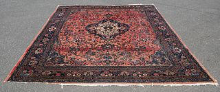 Large Antique Finely Woven Fereghan Sarouk Carpet