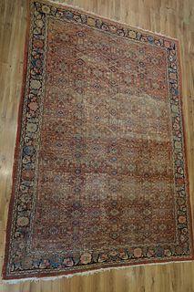 Large Antique Finely Woven Heriz Carpet