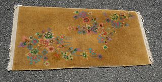 Small Antique Chinese Deco Rug