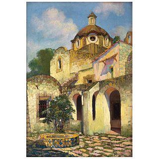 "GUILLERMO GÓMEZ MAYORGA, Sin título, Firmado, Óleo sobre tela, 47 x 33 cm | GUILLERMO GÓMEZ MAYORGA, Untitled, Signed, Oil on canvas, 18.5 x 12.9"" (47"