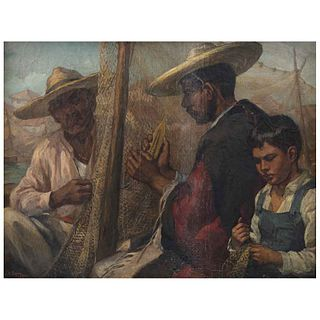 JOSÉ ATANASIO MONROY, Sin título, Firmado y fechado 1941, Óleo sobre tela, 72 x 95 cm | JOSÉ ATANASIO MONROY, Untitled, Signed and dated 1941, Oil on