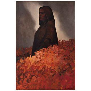 "FRANCISCO DOSAMANTES, Sin título, Firmado, Óleo sobre tela, 90 x 60 cm | FRANCISCO DOSAMANTES, Untitled, Signed, Oil on canvas, 35.4 x 23.6"" (90 x 60"