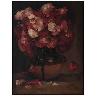 "GUSTAVO MONTOYA, Flores, Firmado, Óleo sobre tela, 71 x 55 cm, Con documento | GUSTAVO MONTOYA, Flores, Signed, Oil on canvas, 27.9 x 21.6"" (71 x 55 c"
