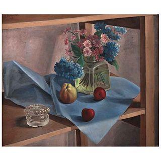 JUAN SORIANO, Naturaleza muerta, Firmado y fechado 41, Óleo sobre tela, 51 x 61 cm, Con constancia | JUAN SORIANO, Naturaleza muerta, Signed and dated