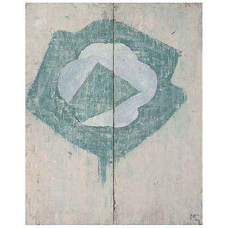 MIGUEL CASTRO LEÑERO, Flor dividida III, 2006, Firmada al frente y en el bastidor, Mixta sobre tela, 100 x 80 cm   MIGUEL CASTRO LEÑERO, Flor dividida