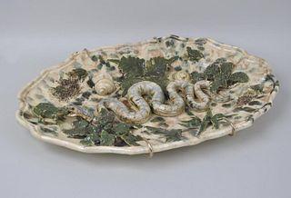 Felix Tardieu Menton Palissy Style Platter