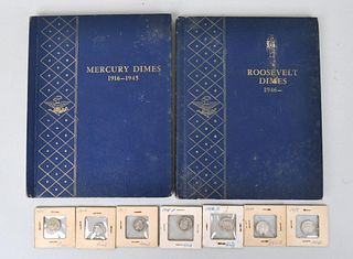 Two Coin Books of Silver U.S. Dimes