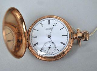 14K Gold Elgin Hunter Case Pocket Watch