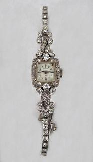 14K White Gold Ladies Hamilton Diamond Watch