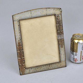 Fine Pierced Jade Brass/Bronze Mounted Frame