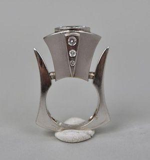 Halina Fuchs Modernist 14K White Gold Ring