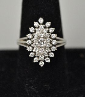 14K White Gold & Diamond Cocktail Ring