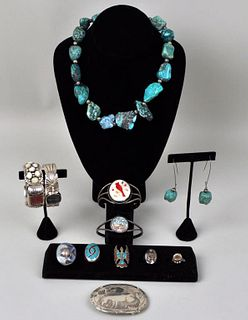 Group Native American & Style Silver Jewelry