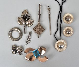Group Assorted Sterling Silver Jewelry