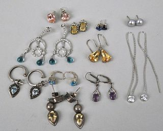 Group Twelve Silver Earrings