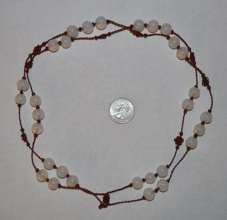 Chinese Peking Glass Bead Necklace