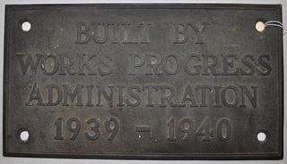 United States WPA Bronze Plaque 1939-1940