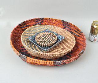Four Vintage Hopi Baskets