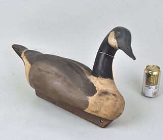 Large Canadian Goose Painted Wood Decoy